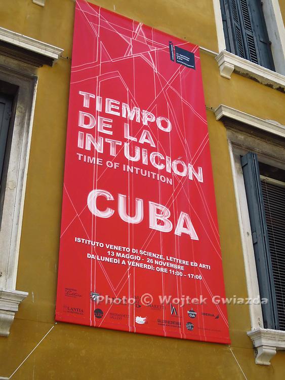 Cuba's exhibition 'Time of Intuition' at the Venice Biennial 2017 is in the Palazzo Loredan, Campo Santo Stefano, San Marco, in the Instituto Veneto di Scienze Lettere ed Arti.
