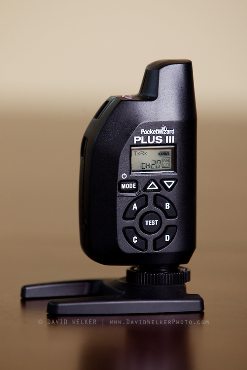 A closer look at the Pocketwizard Plus III transceiver unit on June 21, 2012 in Springfield, Missouri. (David Welker/TurfImages.com).
