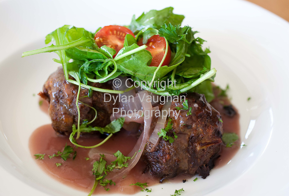 30/9/2008.Edward Hayden Chef Feature.Homemade Meatballs Onion Gravy..Picture Dylan Vaughan..