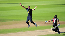 Oliver Hannon-Dalby of Warwickshire appeals for the wicket of Max Waller.  - Mandatory by-line: Alex Davidson/JMP - 29/08/2016 - CRICKET - Edgbaston - Birmingham, United Kingdom - Warwickshire v Somerset - Royal London One Day Cup semi final