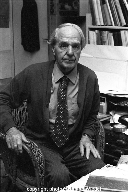 Henry Moore (1898- 1986) , English artist and sculptor  in his studio in Perry Green nr. Much Haddam Hetfordshire in 1972.