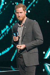 © Licensed to London News Pictures. 06/03/2019. London, UK. Harry Duke of Sussex attend WE Day UK at SSE Arena, Wembley. Photo credit: Ray Tang/LNP