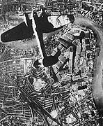 German air raid over central London 1940, Blitz, World War II