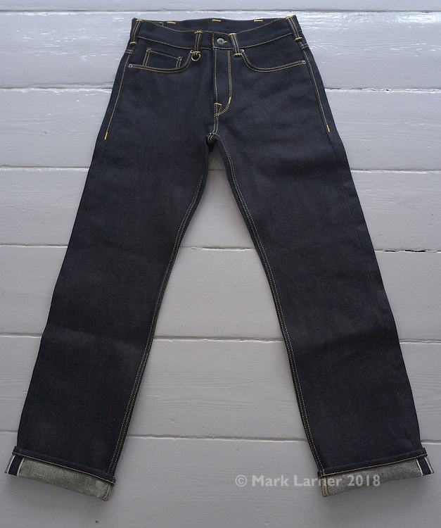 Picture shows a pair of Pike Brothers 1948 Roamer Pants - in beautiful raw 19oz Japanese denim.<br /> <br /> Read the review on www.new-utility.co.uk and www.denimhunters.com<br /> <br /> Credit should read: Picture by Mark Larner<br /> NO UNAUTHORISED USAGE