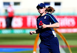 Anya Shrubsole of England Women warm up ahead of their Women's World Cup match with South Africa Women - Mandatory by-line: Robbie Stephenson/JMP - 05/07/2017 - CRICKET - County Ground - Bristol, United Kingdom - England Women v South Africa Women - ICC Women's World Cup Group Stage