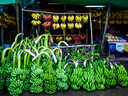 23 NOVEMBER 2017 - YANGON, MYANMAR: Bananas for sale in a small market next to the San Pya Fish Market in Yangon.     PHOTO BY JACK KURTZ