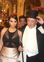 Kim Kardashian with Richard LUGNER attend the traditional Vienna Opera Ball (Wiener Opernball), Vienna State Opera, Vienna, Austria, Thursday, 27th February 2014. Picture by Schneider-Press / i-Images<br /> UK & USA ONLY