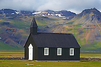 Islande, peninsule de Snaefellsnes, eglise de Budir // Iceland, Snaefellsnes peninsula, Budir church