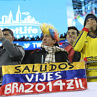 Brazil fans during the Brazil vs Colombia friendly soccer match at MetLife Stadium in East Rutherford, NJ.
