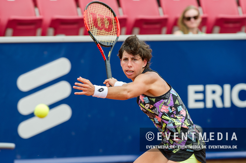 Carla Suárez Navarro (Spain) at the 2017 WTA Ericsson Open in Båstad, Sweden, July 27, 2017. Photo Credit: Katja Boll/EVENTMEDIA.