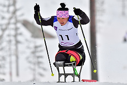 WANG Shiyu, CHN, LW12 at the 2018 ParaNordic World Cup Vuokatti in Finland