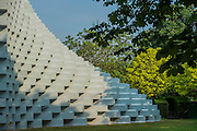 The Serpentine Pavilion, designed by Bjarke Ingels Group (BIG) and four specially conceived Summer Houses designed by Kunlé Adeyemi (NLÉ), Barkow Leibinger, Yona Friedman, Asif Khan. They are an addition to the Serpentine's Architecture Programme, which commissions international architects to design a structure as an exhibition of architecture in the built-form.
