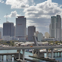 Panoramic View of Miami, Florida taken from the Freedom of the Seas Cruise Ship.