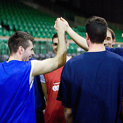 20091124: Basketball - Training session of Union Olimpija and Lottomatica Roma, Ljubljana