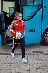 CARDIFF, WALES - Friday, August 19, 2016: Wales' Rachel Rowe arrives at Rodney Parade ahead of the international friendly match against Republic of Ireland at Rodney Parade. (Pic by David Rawcliffe/Propaganda)