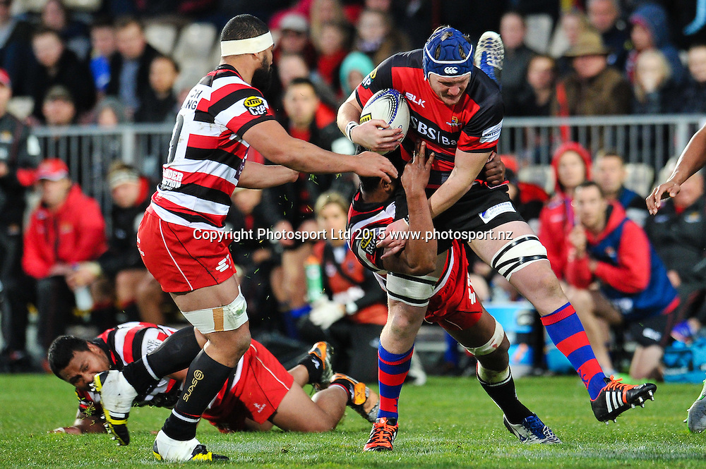 Ben Matwijow of Canterbury on the burst during the ITM Cup rugby match, Canterbury v Counties, at AMI Stadium, Christchurch, on the 23th August 2015. Copyright Photo: John Davidson / www.photosport.nz