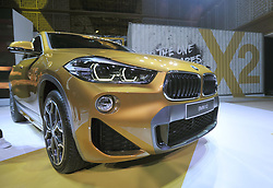 October 31, 2018 - Jakarta, Indonesia - Official presentation of new BMW X in Jakarta, on October 31, 2018. This newly arrived SUV carries a 1.499 cc Turbo 3-cylinder engine with 7-speed double transmission clutch transmission. Power produced 140 hp and 220 Nm of torque. X2 itself complements the BMW SUV line that is currently filled by X1, X3 and X5. (Credit Image: © Dasril Roszandi/NurPhoto via ZUMA Press)