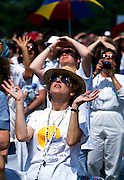 Pilgrims Stare into the Sun Hoping to See the Image of The Virgin Mary.<br />