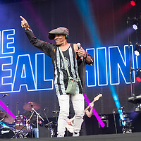 The Real Thing in concert at Rewind Scotland, Scone Place, Perth, Scotland