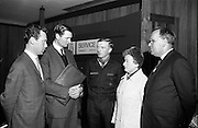 5/11/1967<br /> 11/5/1967<br /> 5 November 1967<br /> <br /> Mr. J. McCullough of An Taisce the National Trust for Ireland; Mr. P.H. Quinlan Bord Failte; Mr. Dominic Coleman National Commissioner C.B.S.I.; Miss Mary B. Murphy General Secretary Irish Red Cross Society and Mr. Frank Casey Society of St. Vincent de Paul at the National Scouters Conference in Dublin