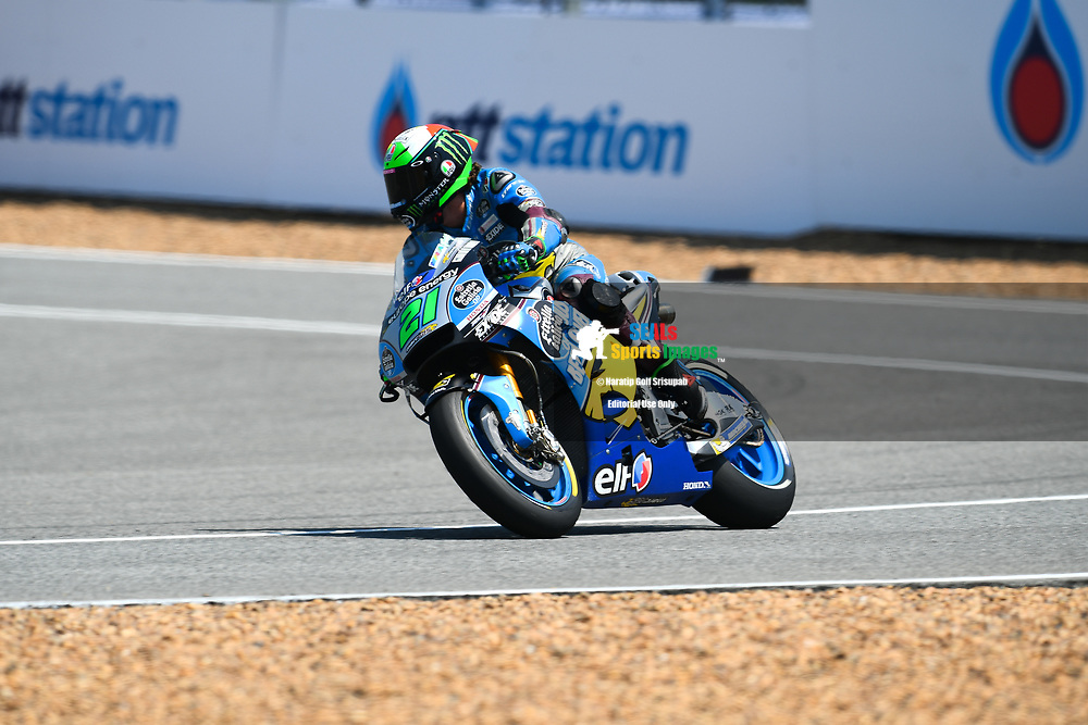 BURIRAM, THAILAND - OCTOBER 06: Franco Morbidelli (21) of Italy and EG 0,0 Marc VDS heading into pit lane during FP3 at the MotoGP PTT Thailand Grand Prix 2018, Chang International Circuit, Buriram, Thailand on October 06, 2018. <br /> .<br /> .<br /> .<br /> (Photo by: Naratip Golf Srisupab/SEALs Sports Images)<br /> .<br /> Any image use must include a mandatory credit line adjacent to the content which should read: Naratip Golf Srisupab/SEALs Sports Images