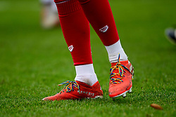 General view of Bristol Sport branded socks and rainbow laces prior to kick off - Mandatory by-line: Ryan Hiscott/JMP - 08/12/2019 - FOOTBALL - Stoke Gifford Stadium - Bristol, England - Bristol City Women v Birmingham City Women - Barclays FA Women's Super League