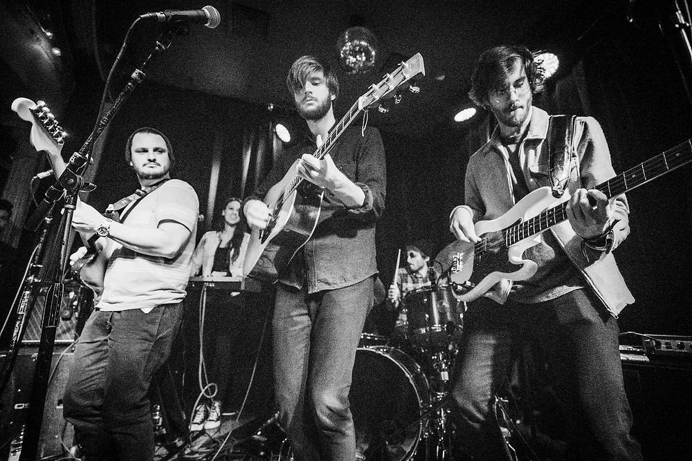 NEW YORK, NY - JANUARY 16: American band Mt. Joy perform at Berlin NYC on January 16, 2018 in New York, New York. (PHOTO CREDIT: EricMTownsend.com)
