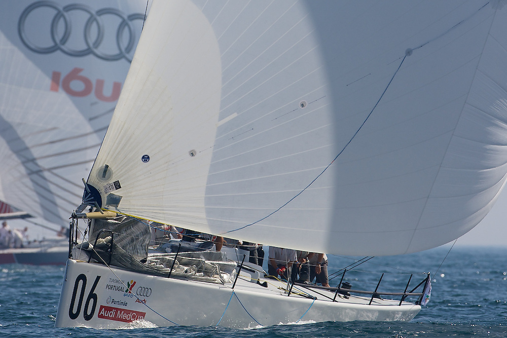 "PORTUGAL, Portimao, September 19th 2008, AUDI MedCup, Portugal Trophy, Race 7 (abandonded due to lack of wind), ""Matador"" leads the fleet"