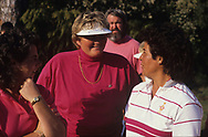 Dale Reid Laura Davies Nancy Lopez <br /> The inaugural Solheim Cup competition took place in Orlando, Florida, United States at Lake Nona Golf &amp; Country Club from November 16 to November 18, 1990. The United States team beat the European team 11&frac12; points to 4&frac12;.<br /> <br /> Picture Credit:  Mark Newcombe / www.visionsingolf.com