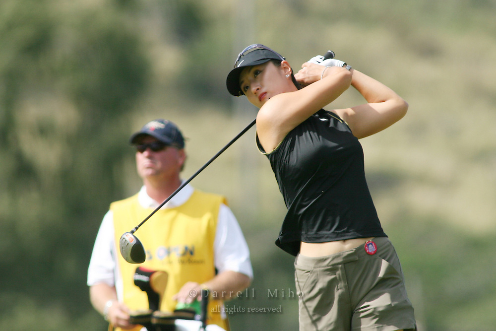 February 16, 2006 - Kahuku, HI - Grace Park tees off during Round 1 of the LPGA SBS Open at Turtle Bay Resort...Photo: Darrell Miho