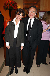 MR & MRS STEPHEN BAYLEY at the 2005 Clicquot Award - Business Woman of The Year award ceremony held at Claridge's, Brook Street, London W1 on 28th April 2005.