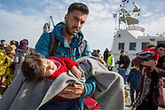 Coast guard drops refugees on Lesbos