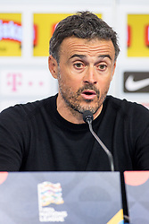 Luis Enrique, head coach of Spain at press conference after the UEFA Nations League football match between Croatia and Spain, on November 15, 2018, at the Maksimir Stadium in Zagreb, Croatia. Photo by Morgan Kristan / Sportida