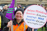 Unison members on the TUC Day of Action 30th November, Leeds.