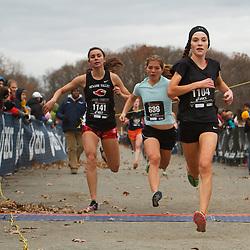 Foot Locker Cross Country Northeast Regional Championship race, (L-R) Jenna Cupp, NY, Skylar Moore, MD, Niamh Ashe, NY