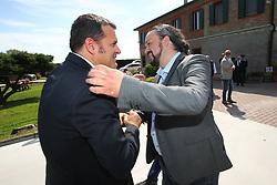 IL MINISTRO CENTINAIO CON ALAN FABBRI<br /> AZIENDA CAVALLERIZZA CONA<br /> VISITA MINISTRO GIAN MARCO CENTINAIO A FERRARA