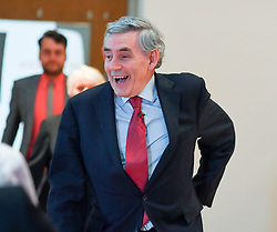 Pictured: Gordon Brown at the rally.<br />