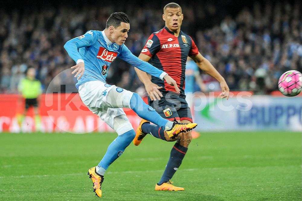 José Callejón of Napoli during the Serie A TIM match between Napoli and Genoa at Stadio San Paolo, Naples, Italy on 20 March 2016. Photo by Franco Romano.