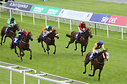 AUXILLARY (19) ridden by Jonathan Fisher and trained by Liam Bailey winning The Federation Of Bloodstock Agents Apprentice Handicap Stakes over 1m 4f (£15,000)  during the Midsummer Raceday held at York Racecourse, York, United Kingdom on 14 June 2019.