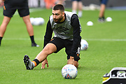 Hull City player Jon Toral (10) warming up before the EFL Sky Bet Championship match between Hull City and Reading at the KCOM Stadium, Kingston upon Hull, England on 10 August 2019.