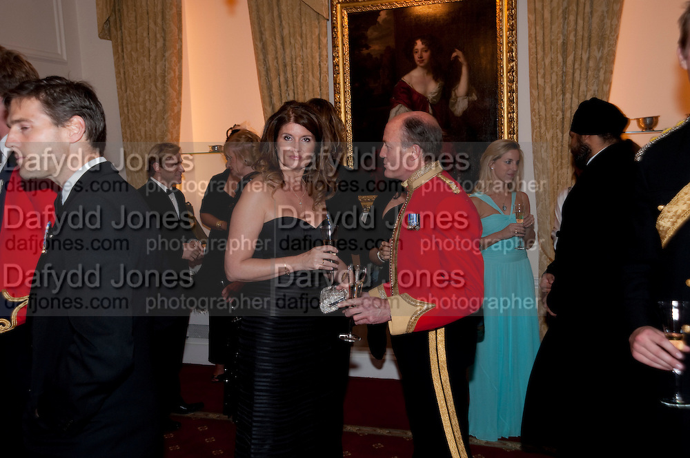ALEXA JAGO; BRIGADIER SIMON ALLEN, Charity Dinner in aid of Caring for Courage The Royal Scots Dragoon Guards Afganistan Welfare Appeal. In the presence of the Duke of Kent. The Royal Hospital, Chaelsea. London. 20 October 2011. <br /> <br />  , -DO NOT ARCHIVE-&copy; Copyright Photograph by Dafydd Jones. 248 Clapham Rd. London SW9 0PZ. Tel 0207 820 0771. www.dafjones.com.