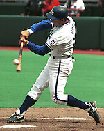 Kansas City Royal George Brett during game action against the Baltimore Orioles at Kauffman Stadium in Kansas City, Missouri in 1994.