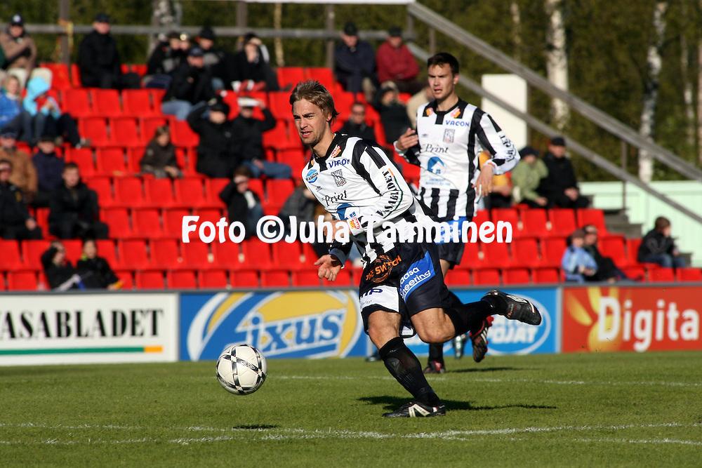 18.05.2008, Hietalahti, Vaasa, Finland..Veikkausliiga 2008 - Finnish League 2008.Vaasan Palloseura - Kuopion Palloseura.Joonas Ik?l?inen - VPS.©Juha Tamminen.....ARK:k