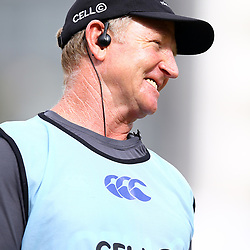 DURBAN, SOUTH AFRICA - JANUARY 23: Dick Muir as an attack and backline consultant of the Cell C Sharks during the Cell C Sharks training session at Growthpoint Kings Park on January 23, 2018 in Durban, South Africa. (Photo by Steve Haag/Gallo Images)