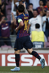 September 18, 2018 - Barcelona, Barcelona, Spain - Leo Messi of FC Barcelona celebrates a goal during the UEFA Champions League group B match between FC Barcelona and PSV Eindhoven at Camp Nou on September 18, 2018 in Barcelona, Spain  (Credit Image: © David Aliaga/NurPhoto/ZUMA Press)