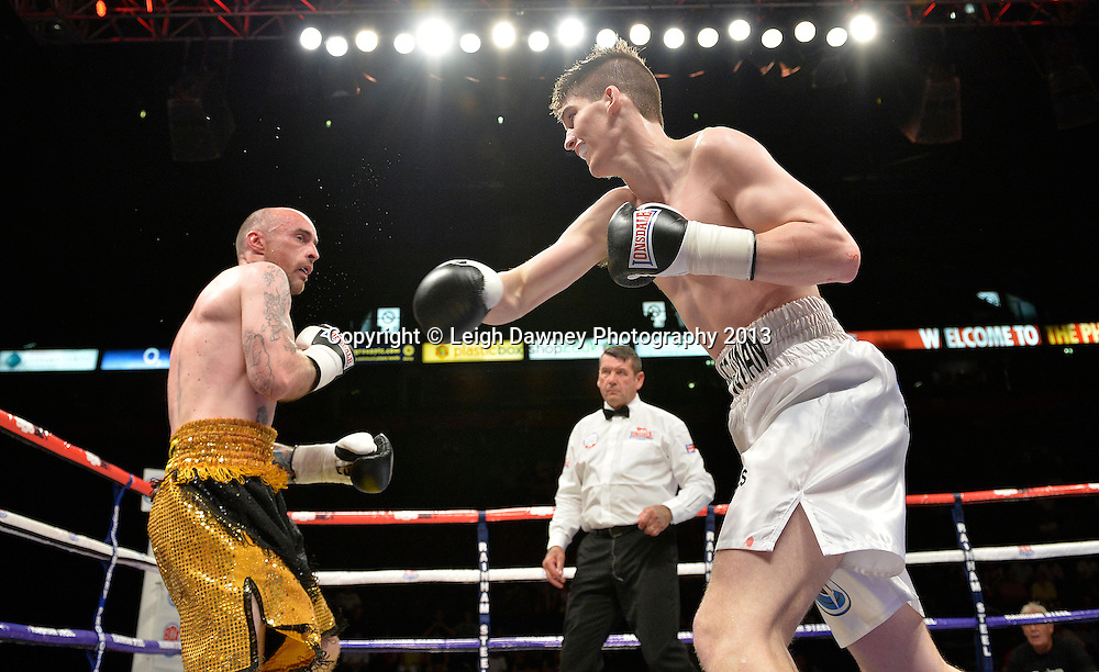 Macaulay McGowan defeats Matt Seawright in a welterweight contest on 26th July 2014 at the Phones 4U Arena, Manchester. Promoted by Frank Warren. © Credit: Leigh Dawney Photography.