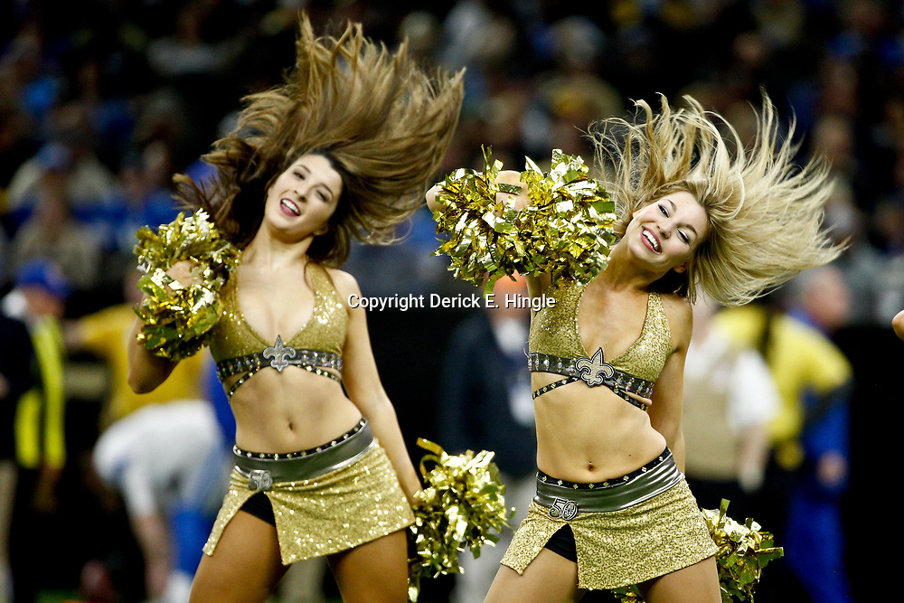 Dec 4, 2016; New Orleans, LA, USA; New Orleans Saints Saintsations perform during the second half of a game against the Detroit Lions at the Mercedes-Benz Superdome. The Lions defeated the Saints 28-13.  Mandatory Credit: Derick E. Hingle-USA TODAY Sports
