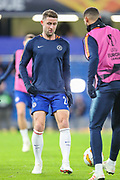 Chelsea defender Gary Cahill (24) warms up prior to the Champions League group stage match between Chelsea and PAOK Salonica at Stamford Bridge, London, England on 29 November 2018.