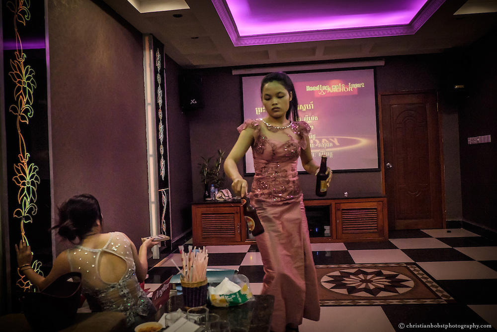 Karaoke is, as in many Asian countries, very popular in Phnom Penh. Most karaoke bars offer their rooms for rent. Karaoke-girls, are not only waitresses but also available for other services.