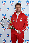 Warsaw, Poland - 2017 December 11: Mikolaj Zurawiecki from Poland poses to the picture while Photo Session of Davis Cup Team of Polish Tennis Association at Regent Hotel on December 11, 2017 in Warsaw, Poland.<br /> <br /> Mandatory credit:<br /> Photo by &copy; Adam Nurkiewicz / Mediasport<br /> <br /> Adam Nurkiewicz declares that he has no rights to the image of people at the photographs of his authorship.<br /> <br /> Picture also available in RAW (NEF) or TIFF format on special request.<br /> <br /> Any editorial, commercial or promotional use requires written permission from the author of image.